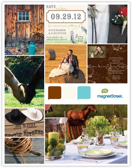 Country Wedding Theme Inspiration Board - Rustic Color Palette