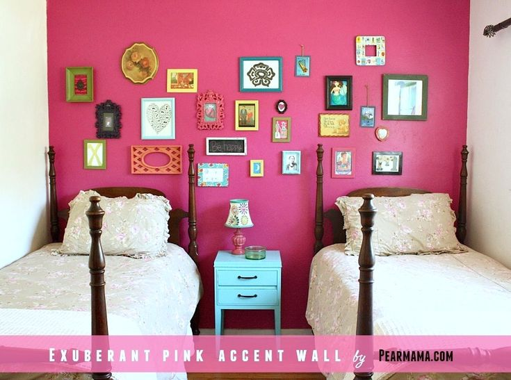Think Pink | Exuberant Pink Accent Wall from Sherwin-Williams - Pearmama