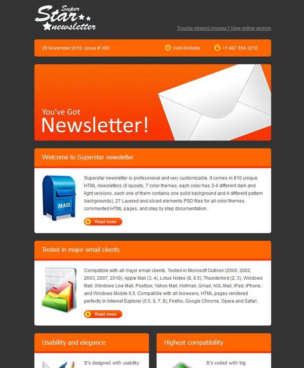 Best Newsletter Design Ideas Images On   Email