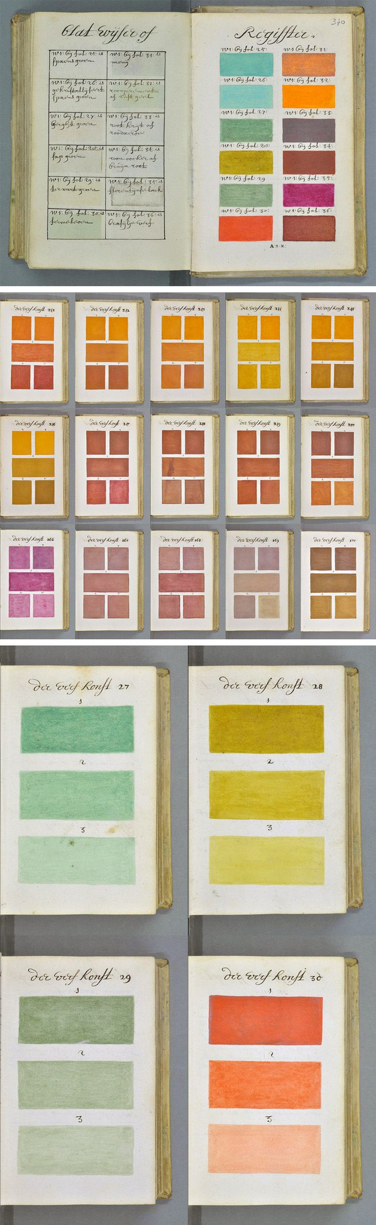 Book color scheme - 271 Years Before Pantone An Artist In 1692 Known Only As A Boogert Mixed And Described Every Color Imaginable In An Book