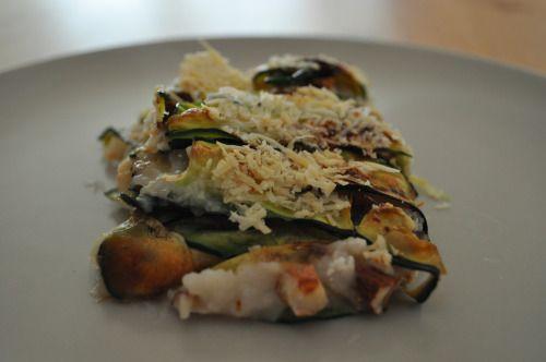 "Lasagne ""zucchine e mandorle"" senza pasta"