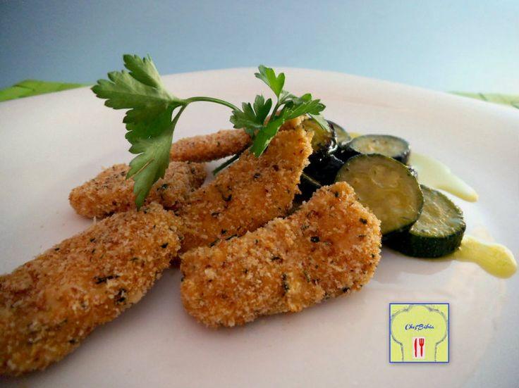 Crocchette di pollo al forno con zucchine