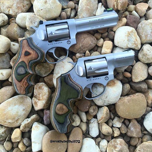 #Repost @michaelhill72 ・・・ Ruger sp101. #ruger #rugersp101 #357magnum #38special #327federal #wheelgunwednesday #wheelgun #revolver #wheelgunrealgun #gunsofinstagram #2a #secondamendment #trump #gunzillion #dailygundose #fun #hornady #hornadyftx #houge #hougegrips