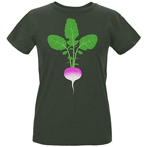 Halloween Vegetable Turnip Costume Womens Organic T Shirt...