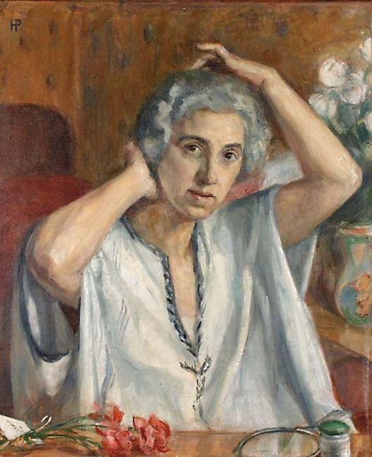 Hanna Pauli: By the mirror (Self-portrait), 1924