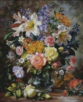 Floral Bouquet Counted Cross Stitch Kit