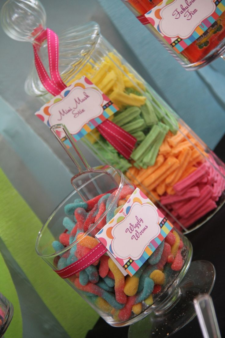 Candy At A Lalaloopsy Party Worms Fruit Sticks Button Cookies