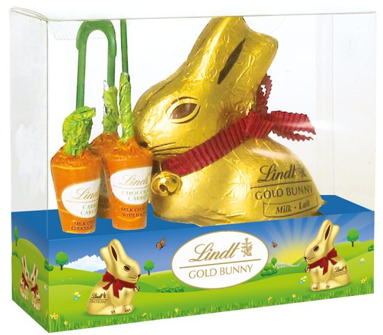 Lindt Gold Bunny and Carrots 140g - Easter Chocolates - Seasonal Chocolates