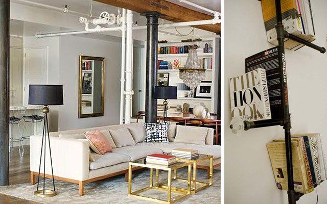 | Diseño de interiores con tuberías vistas