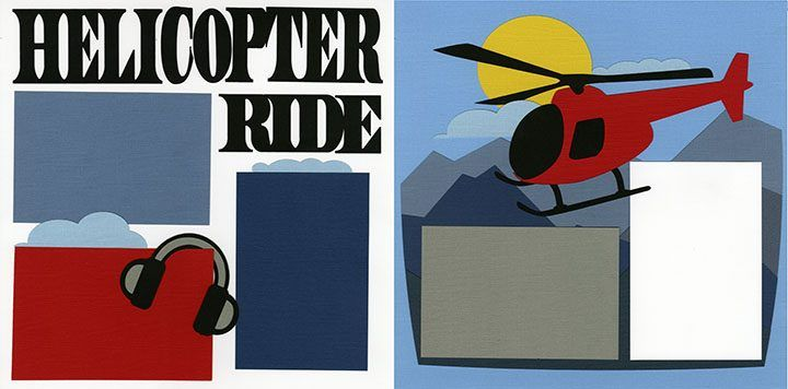 Helicopter Tour Scrapbook Page Kit