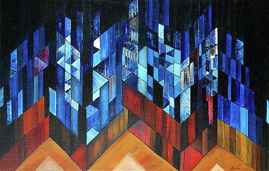 Abstract Painting by Vilem Buchmann