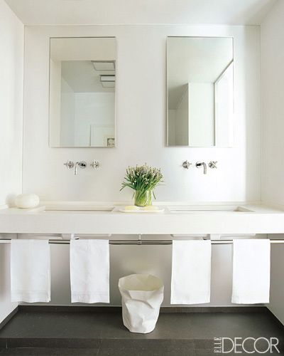 Simple white boys bathroom home is where the heart is for Bathroom elle decor
