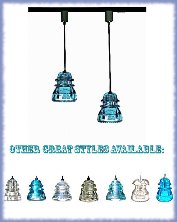 Clear Insulator TRACK LIGHTS Original Antique by DivineDiscoveries, $98.00