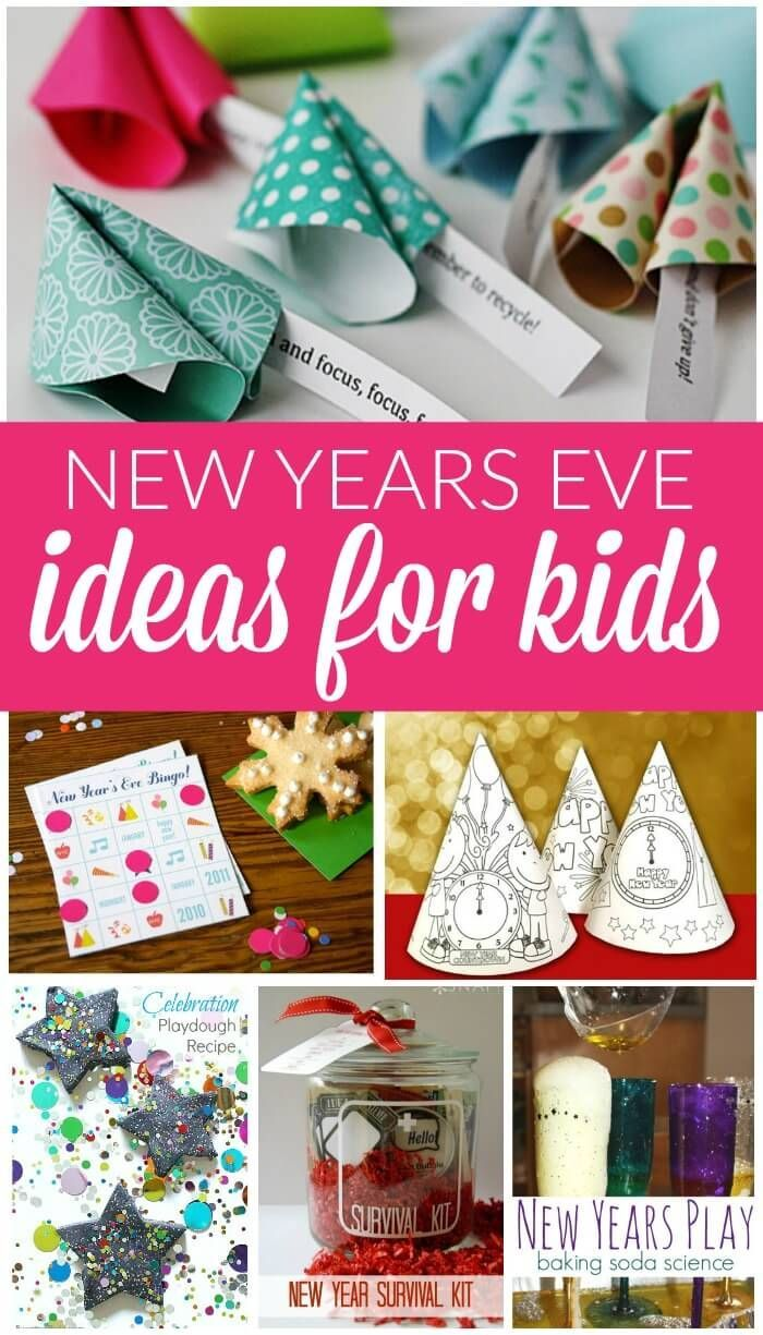 New Years Eve Ideas for Kids! Crafts, DIY, Party Planning and fun ideas for Kids!