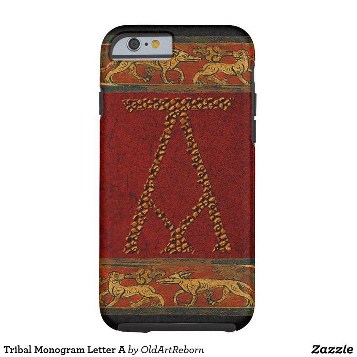 Tribal Monogram Letter A Tough iPhone 6 Case
