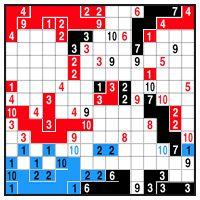 Color Link-a-Pix - step 2 (B)