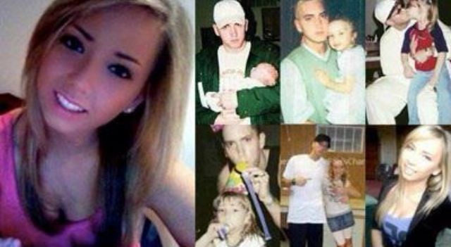 L: Eminem's daughter, Hayley Jade Mathers (present-day photo) R: Eminem w/ Hayley when she was little :)