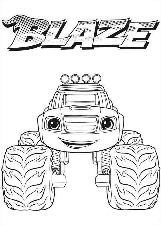 Blaze en de Monsterwielen kleurplaten   Leuk voor kids