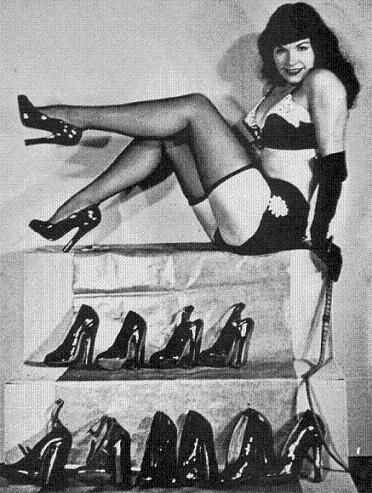 betty page, one of the most iconic women to ever walk on this planet