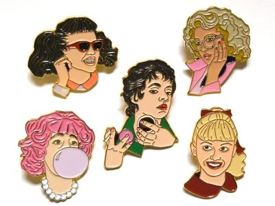 You can now pop the whole set of Pink Ladies on your lapel, so you can keep them close to your heart. Just like real friends, only enamel.
