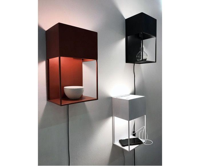 Wandleuchte Box Mit Usb Anschluss Beleuchtungsideen Textilkabel Wandleuchte