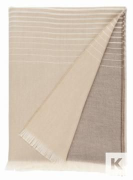 Johnstons of Elgin - Extra Fine Merino Lightweight  Throw with Ombre tips