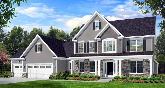 Elevation of Traditional   House Plan 54134
