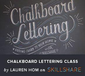 chalkboard lettering class
