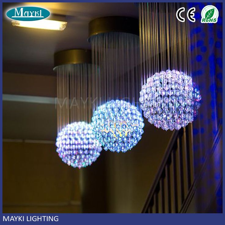 Customized acceptable One ball fiber optic sphere chandelier