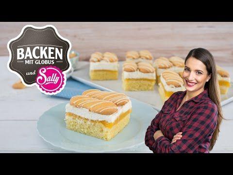 NEU: Aprikosen-Vanillecreme-Schnitte | Backen mit Globus & Sallys Welt #30 - YouTube