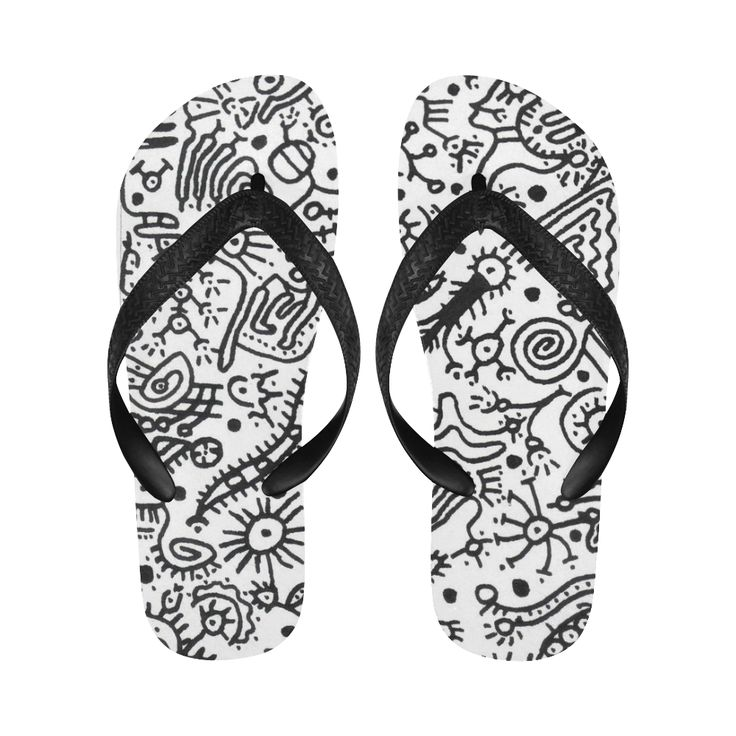 SINDROME DE ABSTINENCIA Nº2 001 Flip Flops for Men/Women (Model 040)