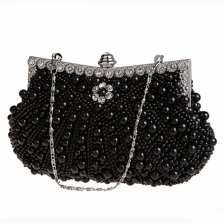Luxury Pearl Handmade Evening Bag Diamond Clutch Bridal Party Handbags