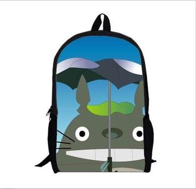 Anime Tonari no Totoro Cosplay Kindergarten baby child 4-5-6 year old bag high capacity backpack child birthday gift