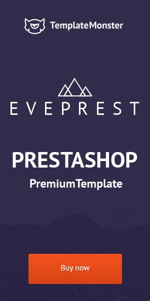 Eveprest is a PrestaShop multipurpose responsive theme aimed to meet each and every of your eCommerce needs - http://www.templatemonster.com/prestashop-themes/eveprest.html