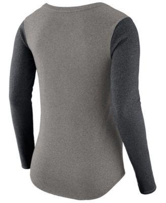 Nike Women's Pittsburgh Steelers Arch Long Sleeve T-Shirt - Gray XL