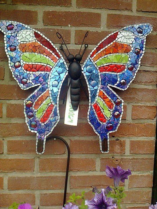 Een grote vlinder