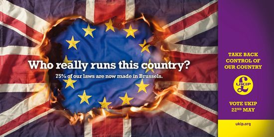 UKIP who really runs this country poster