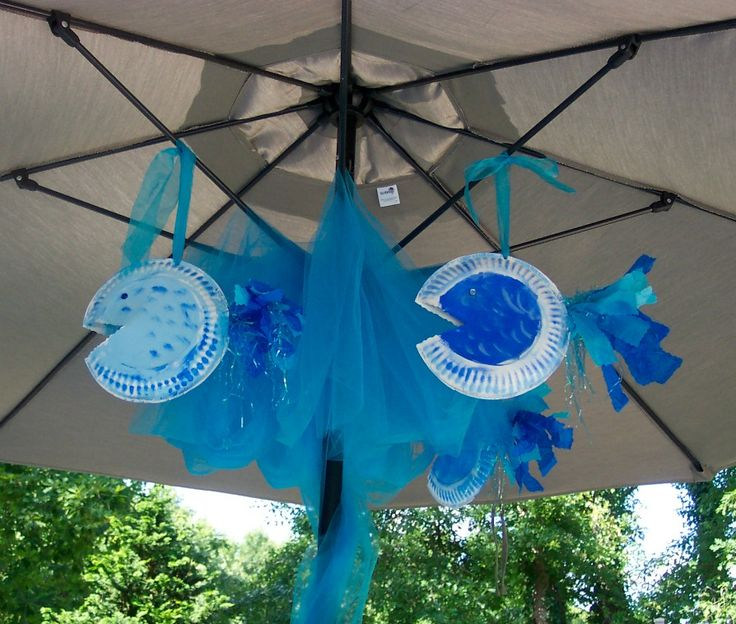 Kids can help make these Little Mermaid Party decorations with paper plates paint and some & 15 best Little Mermaid Party Decorations images on Pinterest ...