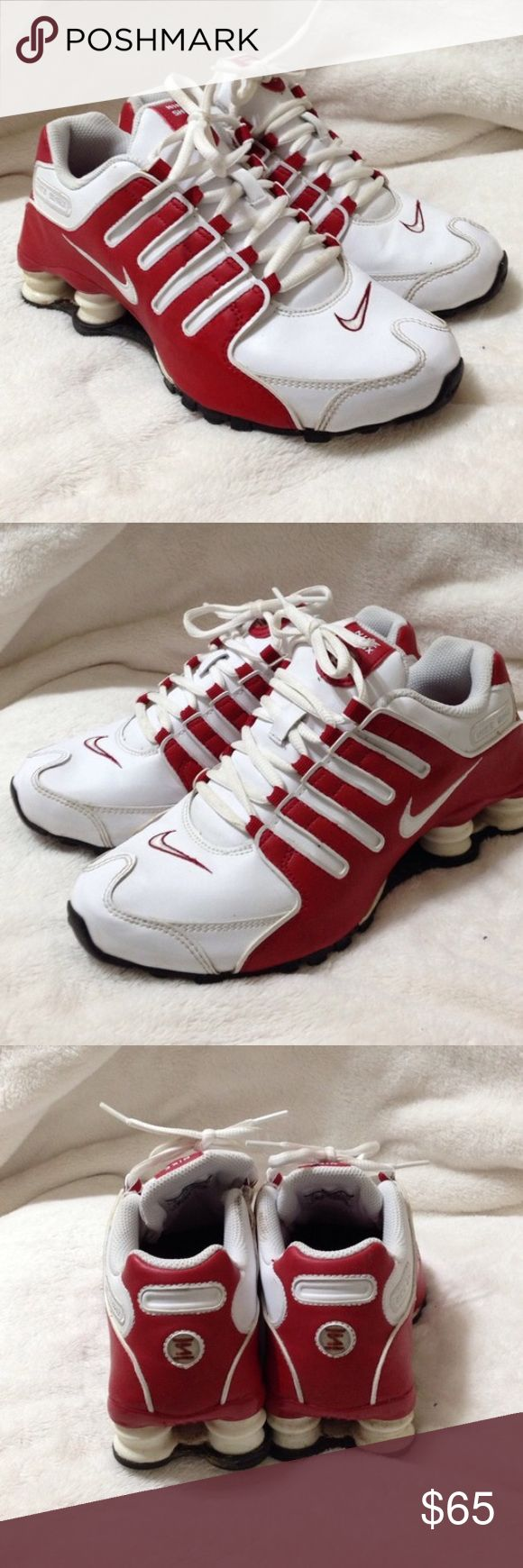 Women's Nike shocks like new size 6 Beautiful comfy size 6w white n red Nike shocks. Worn only a few times so these are in great condition Nike Shoes Sneakers