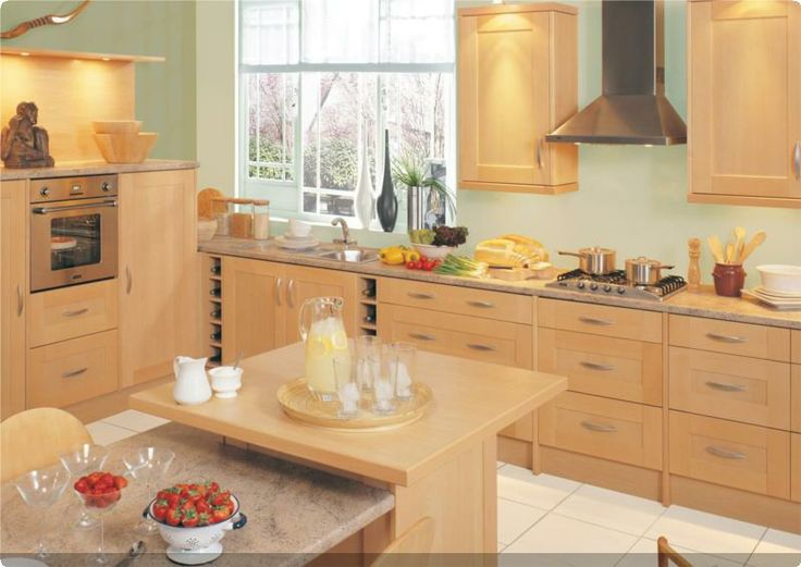 9 best birch effect images on pinterest kitchens birch for Fitted kitchen cupboards