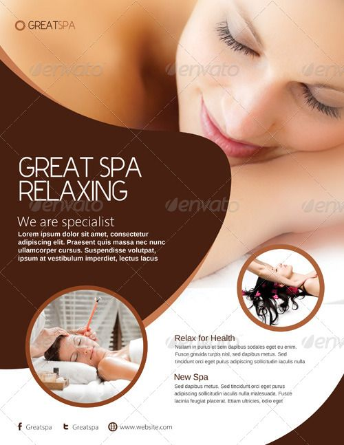 Best Spa Stuff Images On   Flyer Template Salon Ideas