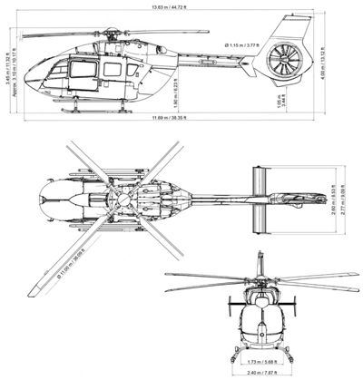 EC145 T2 specifications  H145 Airbus Helicopters.