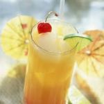 Drunken Pirate 1 oz. Malibu Rum 1/2 oz. Captain Morgan Spiced Rum 1/2 oz. Grand Mariner 2 oz. Orange Juice 2 oz. Pineapple Juice 1 oz. Grenadine Directions: Combine all ingredients into shaker with ice. Shake well. Pour into tulip glass. Serve with orange slice and cherry. Raise glass and toast.