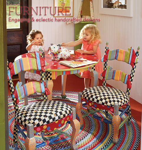 MacKenzie-Childs - Mano Mobiliario ecléctico decorado en MacKenzie-Childs