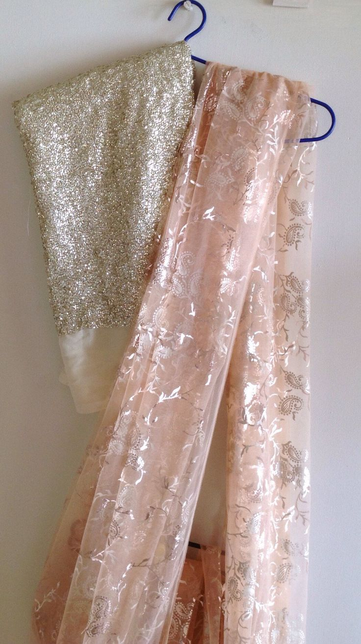 A personal favourite from my Etsy shop https://www.etsy.com/in-en/listing/261793418/soft-beige-tulle-net-saree-with-light