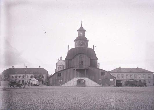 Digitalt Museum - Torget och gamla Rådhuset i Lidköping. ::