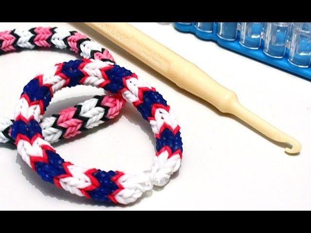 TUTO : bracelet élastique quadrafish Rainbow Loom (en Français)