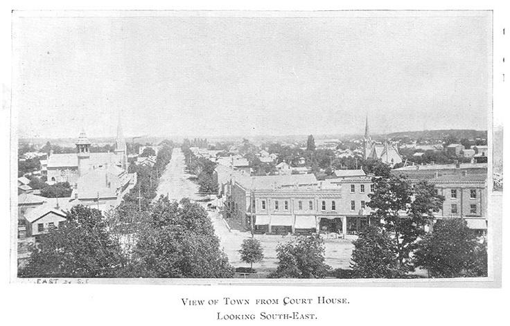 Goderich Downtown, c.1897 #Goderich #RediscoverGoderich #VintageGoderich #TheSquare