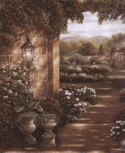 Evening in the Conservatory by Betsy Brown Poster Print