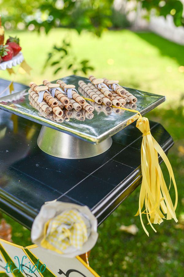 Easy Graduation Hat Cake Plate Tutorial | TikkiDo.com